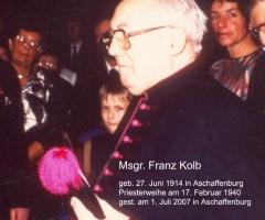 Msgr. Franz Kolb