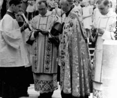 St. Gertrud 1958 Grundsteinlegung (2)