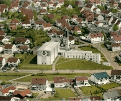 St. Gertrud 1960 Luftaufnahme
