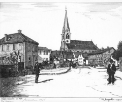 Schweinheim um 1909 - v. Rainer Erzgraber