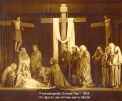 Passionsspiele 1931-34 Christus in den Armen von Maria
