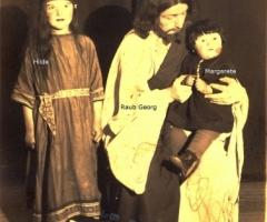 Passionsspiele 1931 Raub Georg als Christusdarsteller mit Töchter