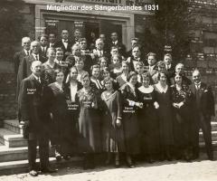 Sängerbund Mitglieder 1931