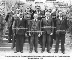 Vereinsvorstände bei der Eingemeindung 1939