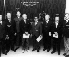 Chorgemeinschaft Ehrung 40-jährige Mitgliedschaft 1968