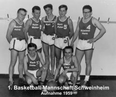Basketball Schweinheim 1. Mannschaft 1959