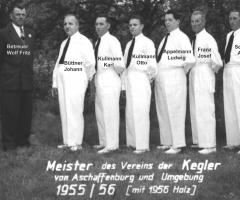 Kegelclub Bahnfrei Meister 1955/56