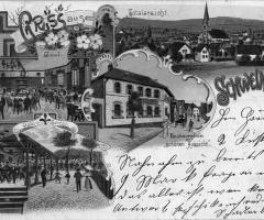 Ansichtskarte Gasthaus Zur Linde Schweinheim