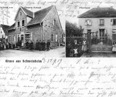 Ansichtskarte des anderen Schweinheims