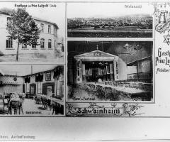 Ansichtskarte Gasthaus Linde Schweinheimer Str