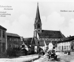 Ansichtskarte Gasthaus Weinwirtschaft Hirsch und Adler 1905