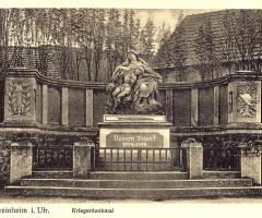 Ansichtskarte Neues Kriegerdenkmal 1. Weltrieg