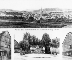 Ansichtskarte Schweinheim Neues Kriegerdenkmal