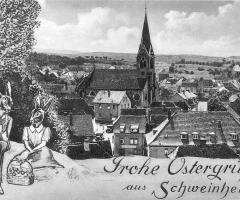 Ansichtskarte Schweinheim Ostergrüsse