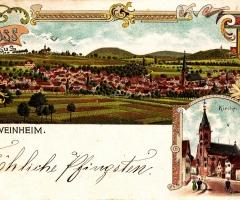 Ansichtskarte Schweinheim Pfingsten 1913