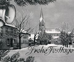 Ansichtskarte Schweinheim Frohe Festtage