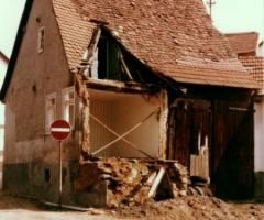 Bahmersgasse Dyroff Hans Abbruch 1977