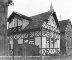 Bischbergstr Gaststätte Zur Gemütlichkeit 1940