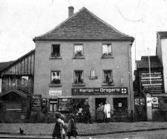 Marienstr Drogerie Brunner ca 1942
