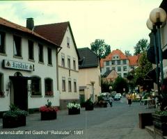 Marienstr mit Gasthof Ratstube 1991