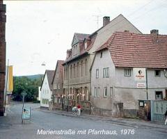 Marienstr mit Pfarrhaus 1976