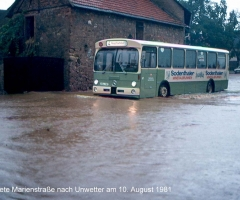 Marienstr überflutet Unwetter 1981