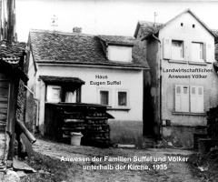 Marienstr unterhalb Kirche 1935 Anwesen Suffel Völker