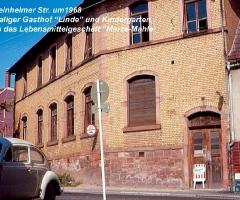 Schweinheimer Str Linde-Kindergarten Merze-Mahle 1968