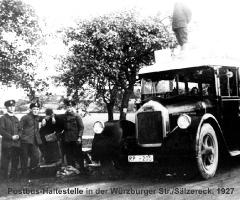Würzburger Str Sälzer Eck - Postbus-Haltestelle 1927