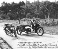 Adlerhorst mit Biergarten - Manfred Ruf - 1953