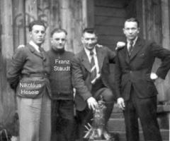 Almhütte Bierschoppen mit Nickel Hesele u. Franz Staudt 1939