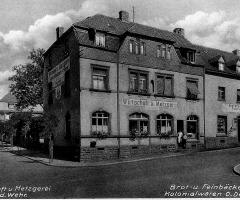 Wirtschaft u. Metzgerei Adam Wehr Schweinheimer Str 1932