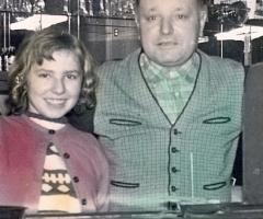 Touristenheim Adam Wehr u. Tochter Waltraud 1955