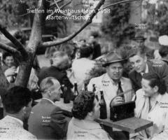 Weinhaus Bonn BSC-Treffen in der Gartenwirtschaft 1958