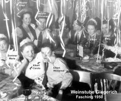 Weinstube Giegerich Fastnacht 1950 (2)