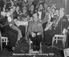 Weinstube Giegerich Fastnacht 1952