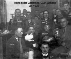 Ochsen Gasthaus u. Metzgerei Kerbfeier um 1925