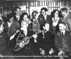 Zum Ross Althohlstr Gemütliche Nachbarschaftsrunde 1935