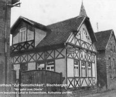 Zur Gemütlichkeit Bischbergstr 1940