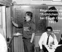 Zur Gemütlichkeit Fröhliche Siebzehn Kegeln 1959