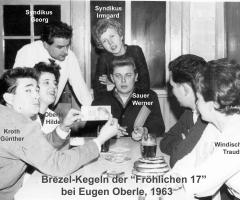 Zur Gemütlichkeit Fröhliche Siebzehn Kegeln 1963